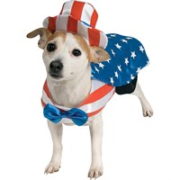 Uncle Sam USA Dog Costume - Large