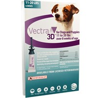 Vectra 3D Small Dog 11 to 20 lbs 6-pack Teal