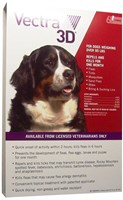 Vectra 3D RED for Dogs over 95 lbs - 6 Doses