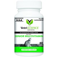 VetriScience NuCat Senior Multivitamin (60 Chewable Tablets)