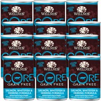 Wellness CORE Grain-Free Canned Adult Dog Food - Salmon,Whitefish, & Herring (12 pack)