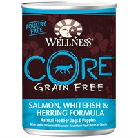 Wellness CORE GrainFree Canned Adult Dog Food SalmonWhitefish Herring 125 oz