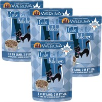 Weruva Cats in the Kitchen Pouch1 If By Land 2 If By Sea 4Pack 12 oz