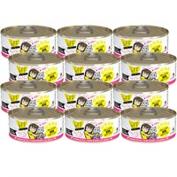 12-PACK Weruva Best Feline Friend Canned Cat Food, Tuna and Chicken 4Eva Recipe (66 oz)