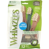Whimzees Toothbrush Dental Dog Treats - Medium (17 count)