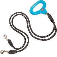 Wigzi Dual Doggie Gel Leash Black - Medium/Large
