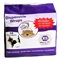 Wiki Wags Male Dog Wraps - Extra Small (12 count)
