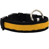 LED Safety Electric Glow Collar - Yellow (Small)