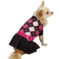 Dog Suppliesapparelsweaterszack & Zoey Argyle Prep Sweater Dress Pink