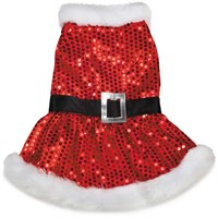 Dog Suppliesapparelholiday Wearzack & Zoey Mrs Claus Sequin Dress Red