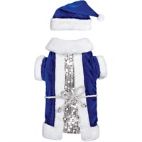 Zack & Zoey Blue Vintage Santa Set - Small/Medium