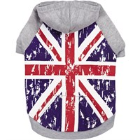 Zack & Zoey Distressed British Flag Hoodie - XLarge