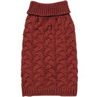 Zack & Zoey Elements Chunky Cable Sweater - Red (Large)