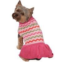 Zack & Zoey Elements Chevron Sweater Dress - Large