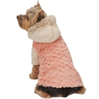 Zack & Zoey Elements Mixed Faux Fur Jacket - Pink (Large)