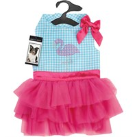 Zack & Zoey® Sparkle Flamingo Dress - Small/Medium