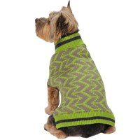 Zack & Zoey Elements Geometric Sweater - Green (XLarge)