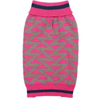 Zack & Zoey Elements Geometric Sweater - Pink (Medium)