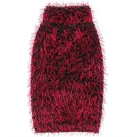 Zack & Zoey Elements Hairy Yarn Sweater - Red (Medium)