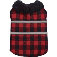 Zack & Zoey Plaid Reversible Thermal Blanket Coat - Large