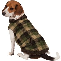 Zack & Zoey Berber Plaid Vest - Green (Medium)