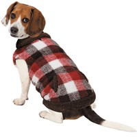 Zack & Zoey Berber Plaid Vest - Orange (Large)