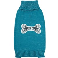 Zack & Zoey Elements Sequin Bone Sweater - Blue (XXSmall)