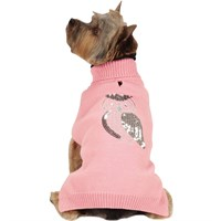 Zack & Zoey Elements Shimmer Owl Sweater - Pink (XSmall)