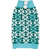 Zack & Zoey Elements Snowflake Sweater - Blue (Medium)