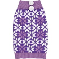 Zack & Zoey Elements Snowflake Sweater - Purple (Medium)