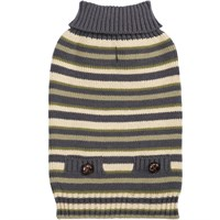 Zack & Zoey Elements Derby Stripe Sweater - Green (Small)
