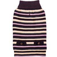 Zack & Zoey Elements Derby Stripe Sweater - Purple (Large)