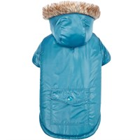 Zack & Zoey Elements Reversible Thermal Parka - Blue (XSmall)