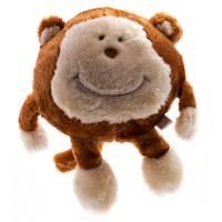 ZippyPaws Brainey Squeaky Plush Dog Toy - Monkey
