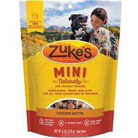 Zuke's Mini Naturals Moist Miniature Treats For Dogs - CHICKEN (6 oz)
