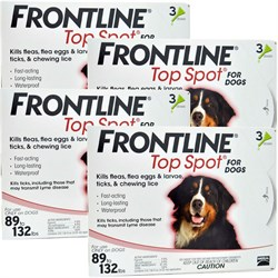 12 MONTH Frontline Top Spot Red for Dogs 89 132lbs