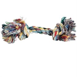 2 Knot Extra Large Tug Rope Bone - Multi Color (10 inch)