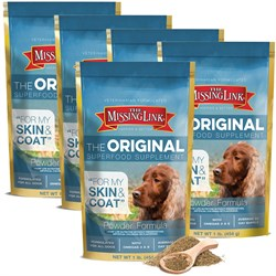Image of 5 Pack Missing Link - Ultimate Skin & Coat (1 lb)