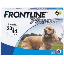 6 MONTH Frontline PLUS Blue for Dogs 23-44 lbs