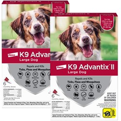 12 MONTH K9 ADVANTIX II RED Large Dog for dogs 21 55 lbs