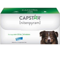 Image of CAPSTAR Green FAST ACTING for Dogs Over 25 lbs. (60 Tabs)