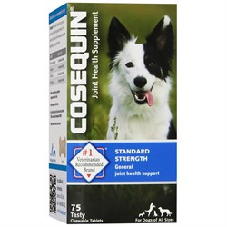 Image of COSEQUIN Bonelets Hip and Joint Supplement for Dogs - 75 Chewable Tablets