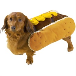 Hot Diggity Dog Costume Mustard - LARGE