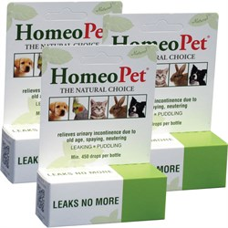 Image of 3 PACK HomeoPet Leaks No More (45 mL)
