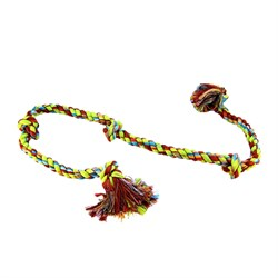 """Mammoth Flossy Chews Cottonblend Color 5-Knot Rope Tug 36"""" (X-Large)"""