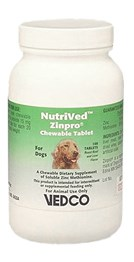 Image of NutriVed Zinpro for Dogs (100 CHEWABLE Tablets)