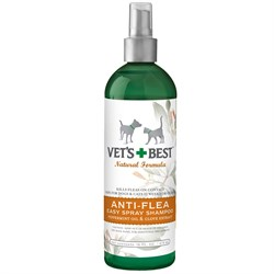 Vet&#39;s Best Natural Anti-Flea Easy Spray Shampoo (16 oz)