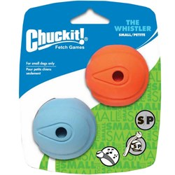 whistlersm NEW! Chuckit! Whistler Ball Small (2 Pack)