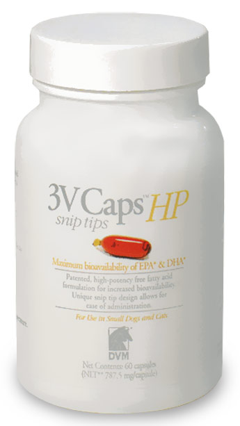 3V Caps HP SNIP TIPS for SMALLER DOGS &amp; CATS (60 Caps, 787.5 mg/capsule)