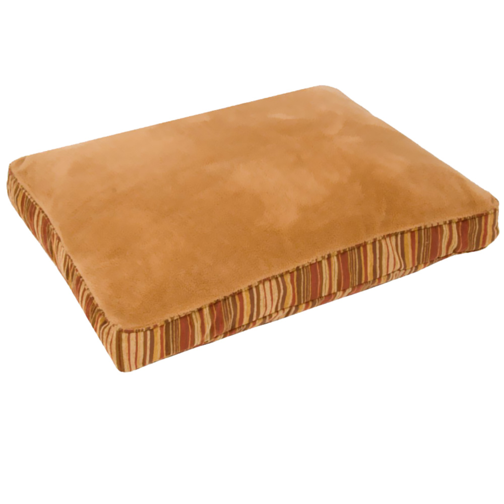 Aspen Pet Antimicrobial Deluxe Pillow (27&quot; x 36&quot;) - Caramel/Stripe Chenille